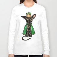 matisse Long Sleeve T-shirts featuring Queen Matisse the Oriental Shorthair by Studio 8107