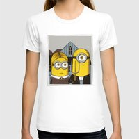 minion T-shirts featuring Minion Gothic by le.duc