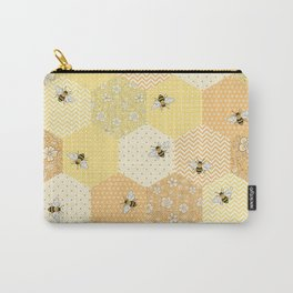 Patchwork Bees Pattern Carry-All Pouch