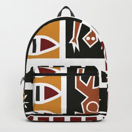 African Tribal Pattern No. 20 Backpack