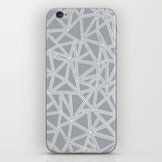 Shattered Ab Grey and White  iPhone & iPod Skin