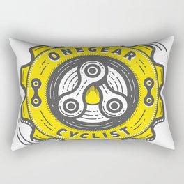 One Gear Cyclist Rectangular Pillow
