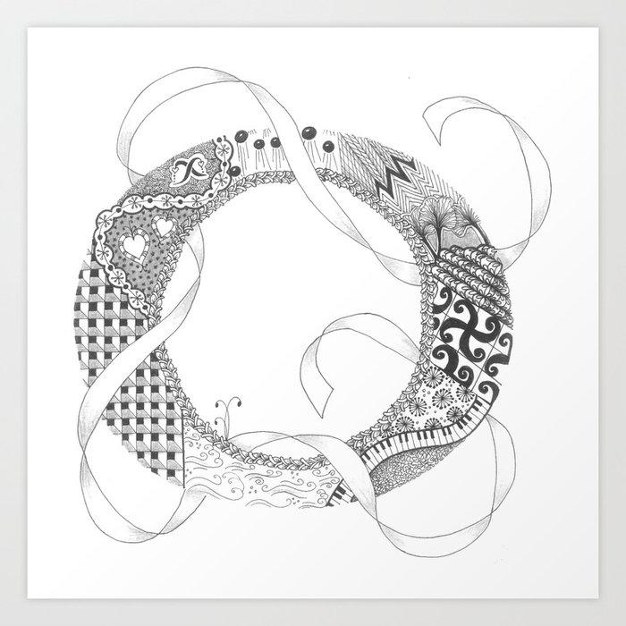 "Zenletter ""O"" Art Print"