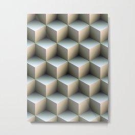 Ambient Cubes Metal Print