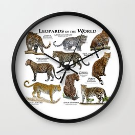 Leopards of the world Wall Clock