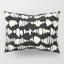 Tribal Song Cream on Black Pillow Sham
