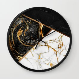 Elegant Marble Collage Wall Clock