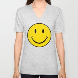 Smiley Happy Face Unisex V-Neck