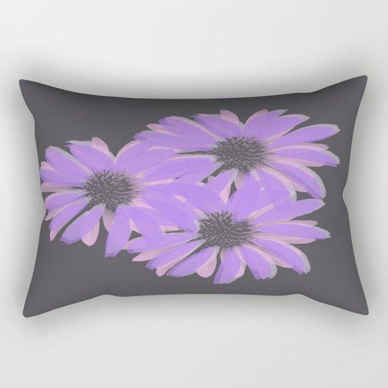 Painterly Floral Trio Rectangular Pillow
