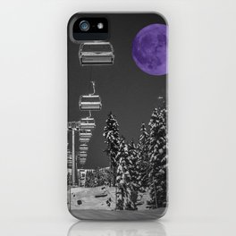 Chair Lift to the Purple Moon iPhone Case