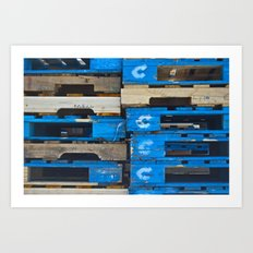 Stacked Together Art Print