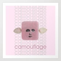 camouflage Art Prints featuring Camouflage by fabiotir
