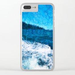 Kapiti Boat Wake Clear iPhone Case