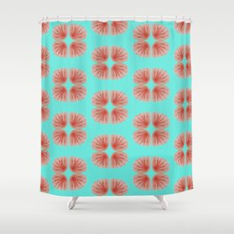 Shell Tie Dye Shower Curtain
