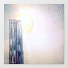 New York by Gehry Illustration Canvas Print