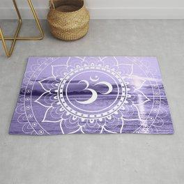 Water Om Mandala Lavender Rug