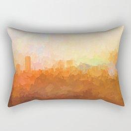 Baton Rouge, Louisiana Skyline - In the Clouds Rectangular Pillow