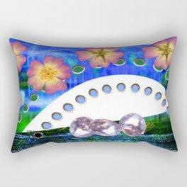 Flowers and Diamonds Rectangular Pillow