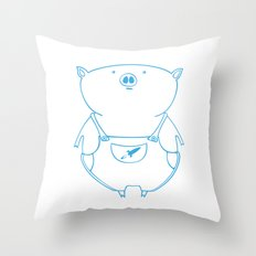 piggy 15 Throw Pillow