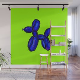 Doggy - blue & green Wall Mural