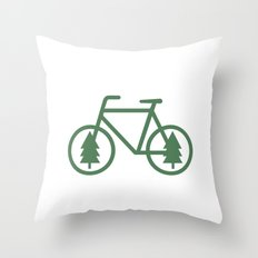 Pacific Northwest Cycling - Bike, Bicycle, Portland, PDX, Seattle, Washington, Oregon, Portlandia Throw Pillow