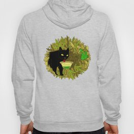 cat and green milk Hoody