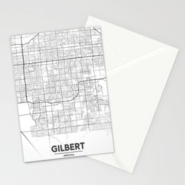 Minimal City Maps - Map Of Gilbert, Arizona, United States Stationery Cards