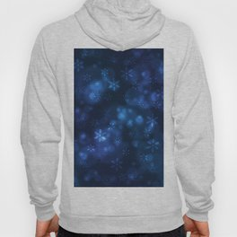 Blue Snowflakes Winter Christmas Pattern Hoody