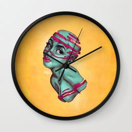 Fraught with draught Wall Clock