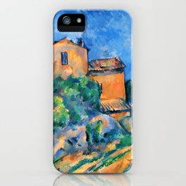 "Paul Cezanne ""Maison Maria with a View of Chateau Noir"" iPhone Case"