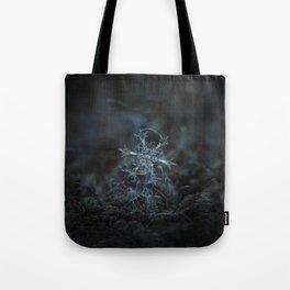 Real snowflake macro photo - Starlight Tote Bag