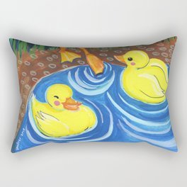 First swim Rectangular Pillow