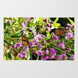Monarch Butterfly Couple Rug