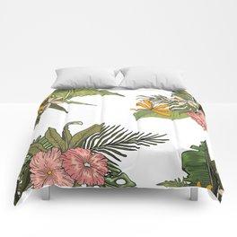 Palm Bouquets Comforters