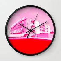 bauhaus Wall Clocks featuring Bauhaus · Das Bauhaus 5 by Marko Köppe