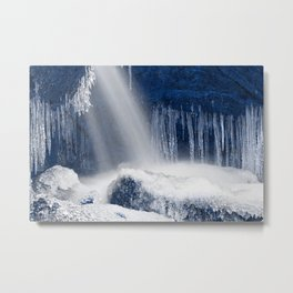 Stream of Blue Frozen Hope Metal Print