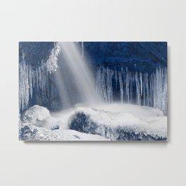 Stream of Blue Frozen Hope Metal Print