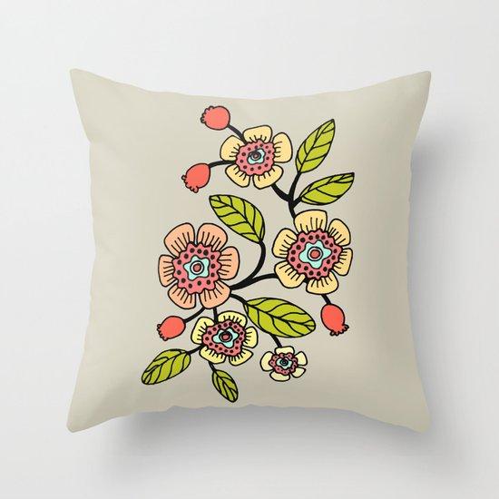 joli printemps Throw Pillow