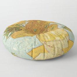 Vase with Twelve Sunflowers, Van Gogh Floor Pillow