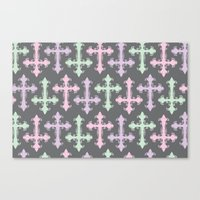 pastel goth Canvas Prints featuring Pastel Goth | Grey by Glitterati Grunge