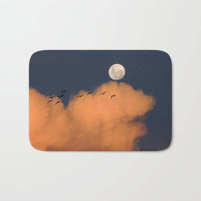 Moon cloud sky 7 Bath Mat