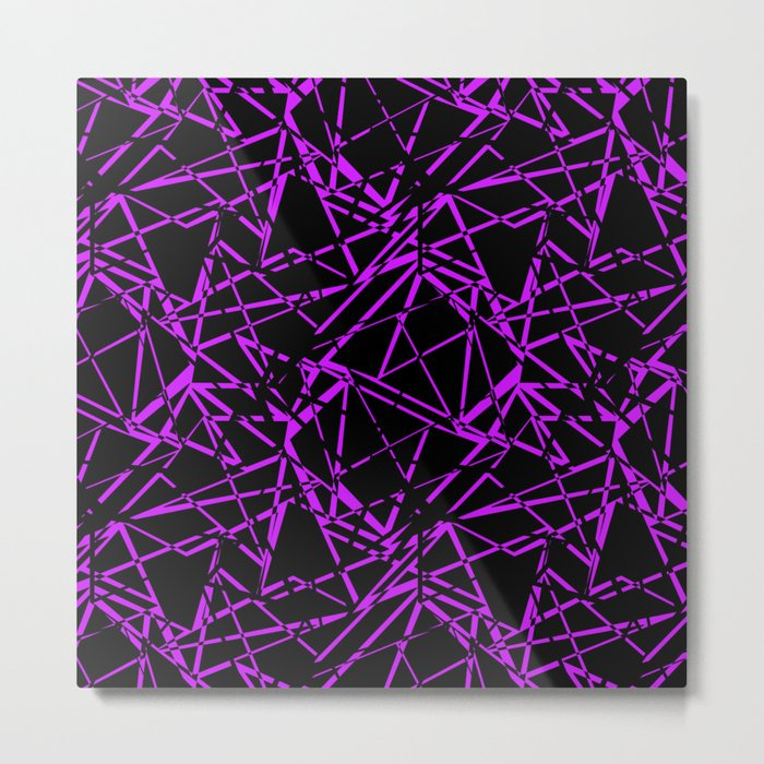 Abstract black and purple pattern .Line . Metal Print