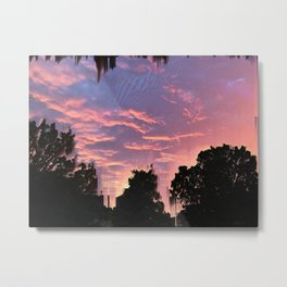Slashed Sunset Metal Print