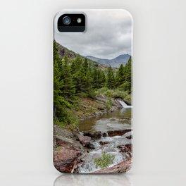 Upper Redrock Falls - Glacier NP iPhone Case