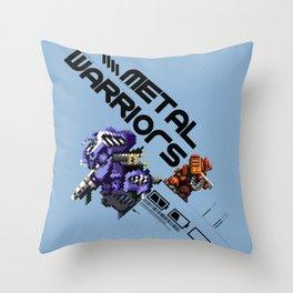 Metal Warriors Throw Pillow