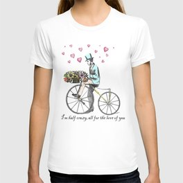 Spring time bicycle romance T-shirt