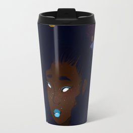 She has the whole world at her fingertips Travel Mug