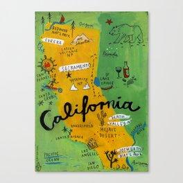 Postcard from California Canvas Print