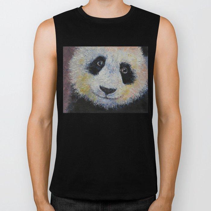 Panda Smile Biker Tank
