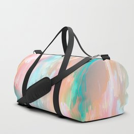 Candy Rainbow Glitch Fall #abstractart Duffle Bag